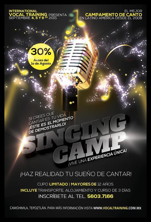 ¡Campamento de Canto en México! ¡ASISTE!