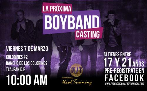 Gran Casting De Canto Para Boyband - ¡Asiste!