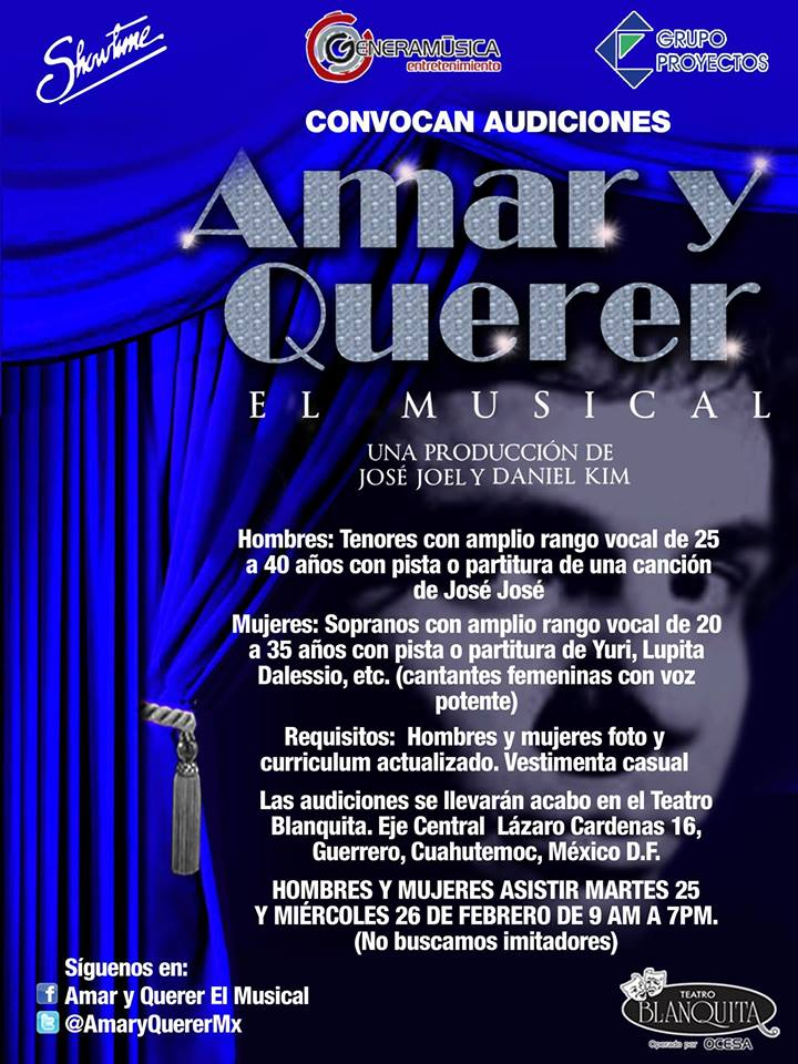 Casting SÓLO HOY – José José El Musical