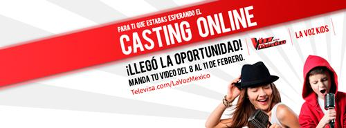 Casting Online La Voz México y La Voz Kids