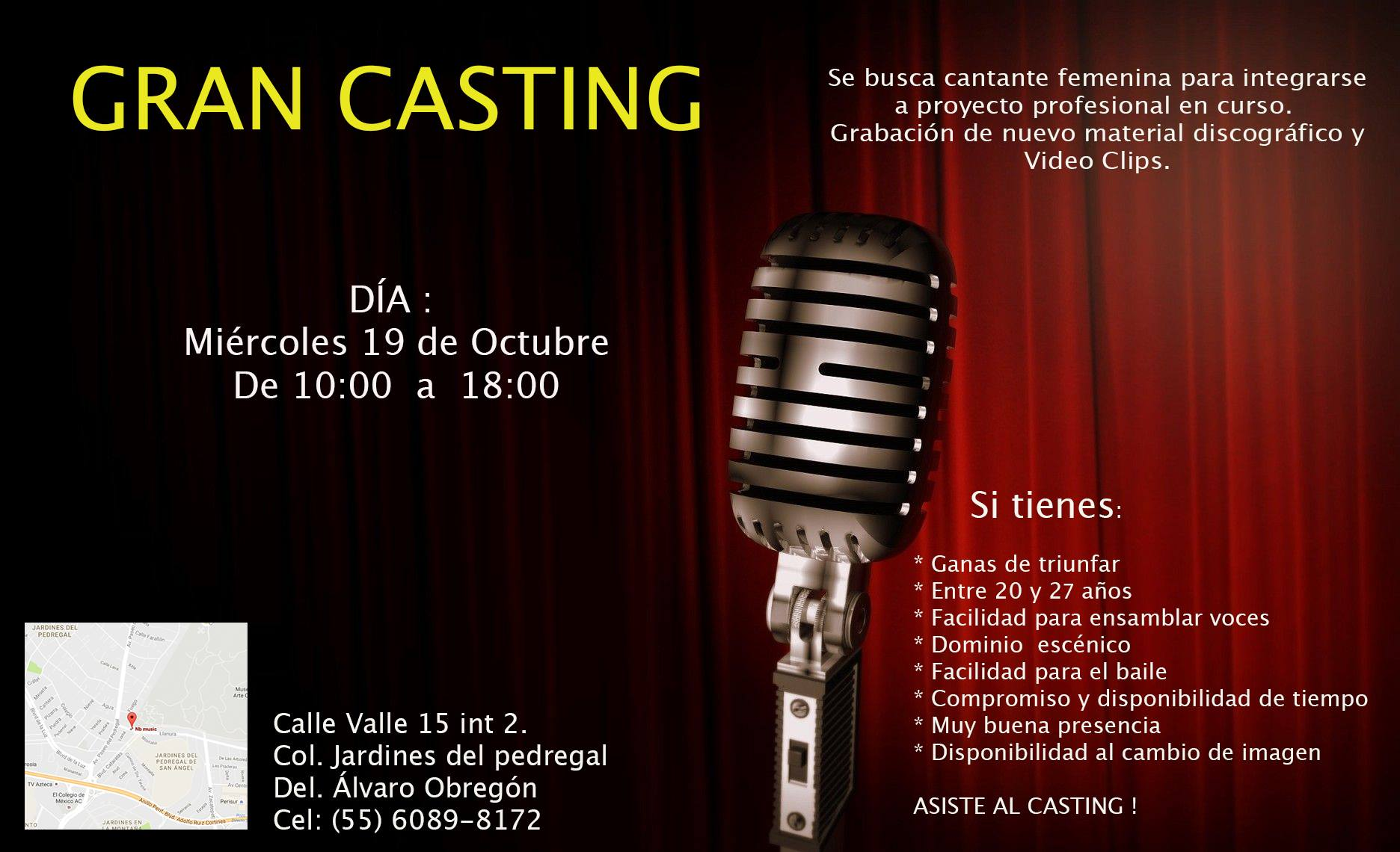¡Casting de Canto para el grupo Popklore!