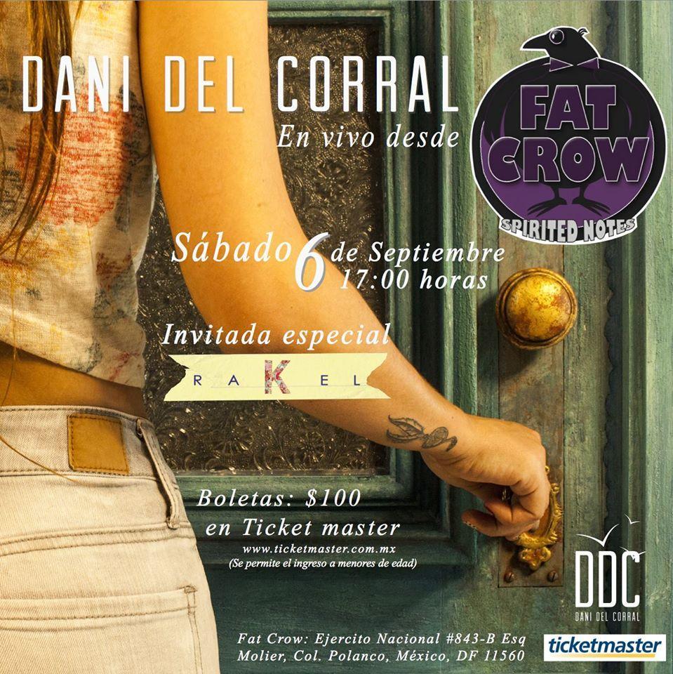 ¡Asiste a la presentación del disco de DANI DEL CORRAL este Sábado 6!