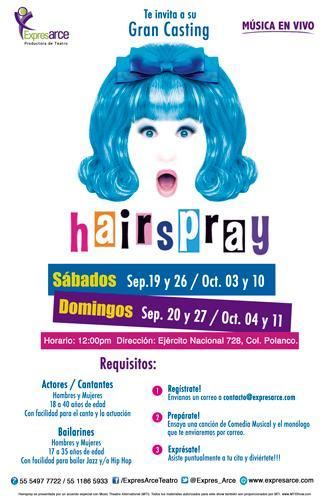 Casting de Canto – Hairspray ¡No te lo pierdas!